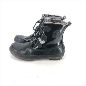 B27 Sorel Black Lace Up Winter Boots NL 1947-010